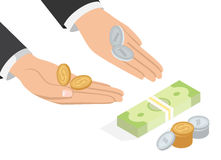 Offer of Money Isometric Projection Concept Royalty Free Stock Photos