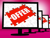Offer Monitors Shows Promotional Discounting And Reductions Royalty Free Stock Image