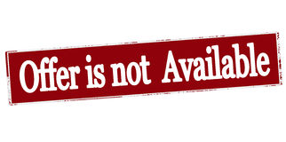 Offer is not available Royalty Free Stock Photography