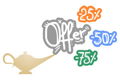 Offer percentages Royalty Free Stock Image