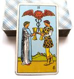 2 Two of Cups Tarot Card Offer of Relationship Happy Couple Only Eyes for Each Other Relationship Success Happy Partnership/Fri royalty free illustration