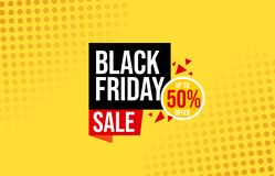 Offer sale, black Friday sale, banner, ilustration royalty free illustration