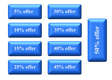 Offer sale tags Royalty Free Stock Image