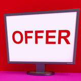 Offer Screen Shows Promotional Discounts Stock Photography