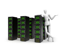 The offer on services of servers Stock Photo