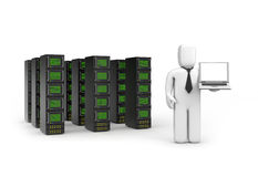 The offer services of servers, data storage, etc Stock Image