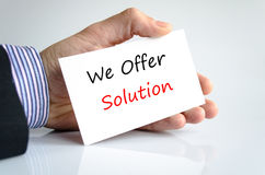 We Offer Solution. Business hand writing text We offer solution Royalty Free Stock Photography