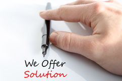 We offer solution text concept Royalty Free Stock Photos