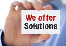 We offer solutions Royalty Free Stock Images