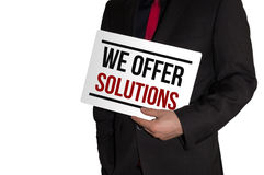 We offer solutions. Business concept Royalty Free Stock Photography