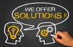 We offer solutions Royalty Free Stock Image