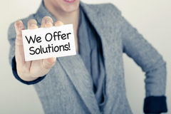 We Offer Solutions / Customer Service Support Stock Images