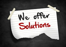 We offer solutions Royalty Free Stock Photography