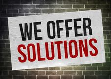 We offer solutions Stock Photos