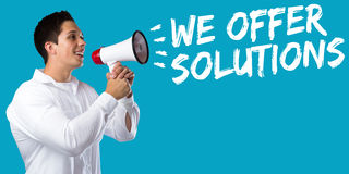 We offer solutions solution for problem business concept success Royalty Free Stock Photography