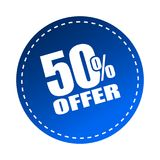 50 offer sticker. Editable vector illustration on isolated white background Stock Photo