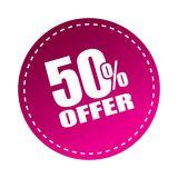50 offer sticker. Editable vector illustration on isolated white background royalty free illustration