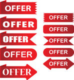 Offer tags Royalty Free Stock Photos