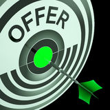 Offer Target Means Cheap Reductions Stock Images