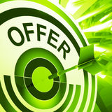 Offer Target Means Discounts Reductions Or Sales Royalty Free Stock Photos