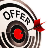 Offer Target Shows Discounts Reductions Or Sales Stock Image