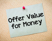 Offer Value for Money Stock Images