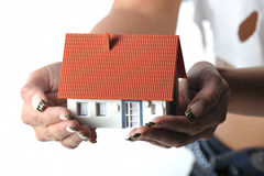Offer your house in hands 2 Stock Images