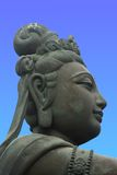 Offerer to the Giant Buddha Royalty Free Stock Image
