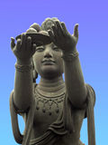Offerer to the Giant Buddha Royalty Free Stock Photos