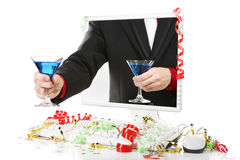 Offering blue martini Royalty Free Stock Photos