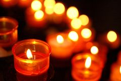 Offering Candles Royalty Free Stock Photo