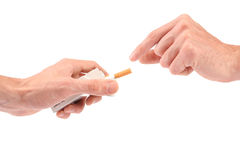 Offering a cigarette Stock Photos