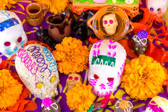 Offering for the dead. Ofrenda del dia de muertos Royalty Free Stock Photos