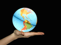 Offering Earth Globe Royalty Free Stock Photography