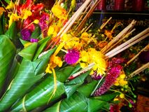 Flowers to worship God. Northern Thailand Stock Images