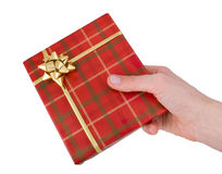 Offering a gift Royalty Free Stock Image