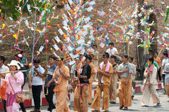 Offering given as alms on parades of Poy-Sang-Long Festival in N Royalty Free Stock Photo