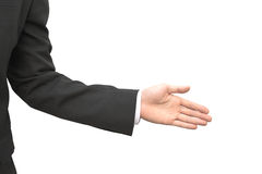 Offering a hand shake royalty free stock photo