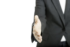 Offering a handshake Stock Image