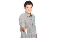 Offering Handshake Smiling Hispanic Man At H Stock Images