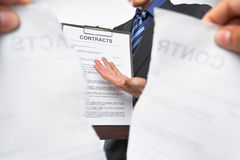 Offering new contract Stock Photos