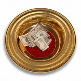 Offering Plate Royalty Free Stock Photo