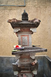 Offering on the shrine in Bali, Indonesia Royalty Free Stock Photography
