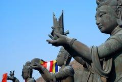 The Offering of the Six Devas. Tian Tan Buddha. Lantau island. Hong Kong Stock Photo