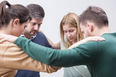 Offering support and understanding for one another stock image