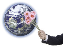 An offering to the Earth Stock Photos
