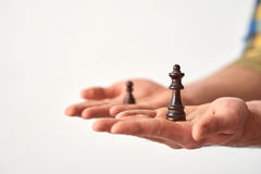 Offering to make a decision. Stock Images