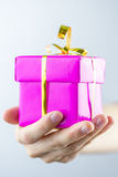 Offering you a gift Royalty Free Stock Images
