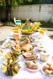 Offerings för josshuset, Thailand Arkivfoton