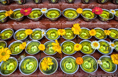 Offerings at festival near Bodhnath stupa Stock Images